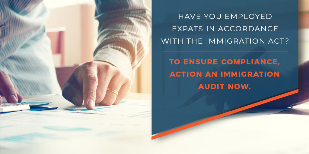 Have you employed expats in accordance with the immigration act?