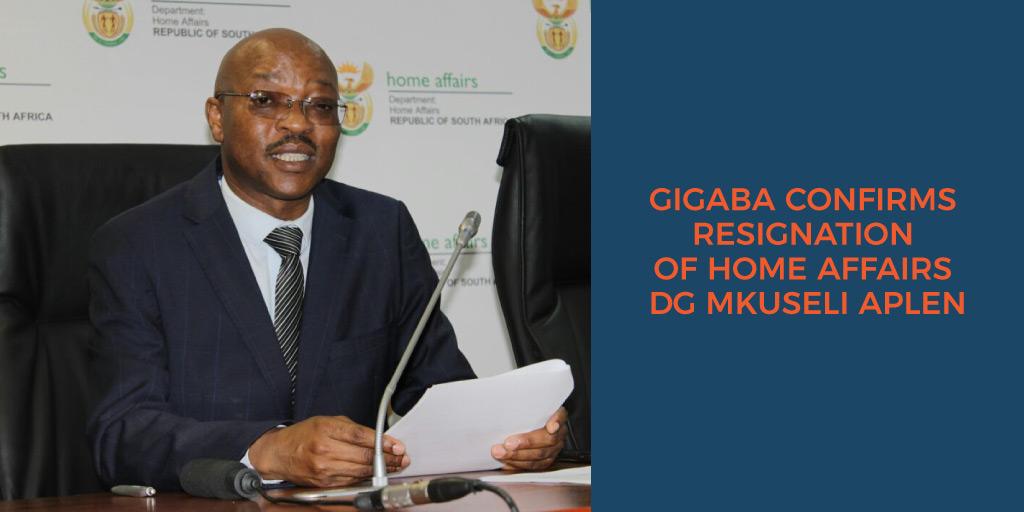 Gigaba confirms resignation of Home Affair DG Mksuleli Aplen