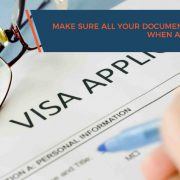 Make sure all your documents are up-to-date when applying for a visa