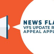 VFS update regarding appeal applications