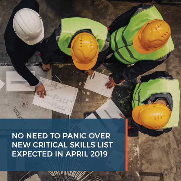 No need to panic over new critical skills list expected in April 2019