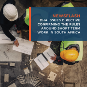 DHA issues directive confirming the rules around short term work in South Africa
