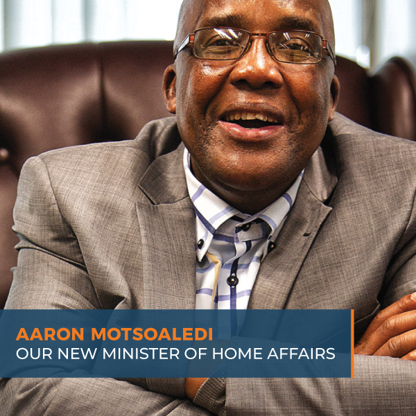 Aaron Motsoaledi - the newsly appointed Minister of Home Affairs