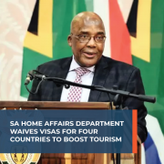 SA Home Affairs Department waives visas for four countries to boost tourism