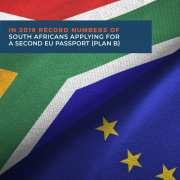 In 2019 record numbers of South Africans applying for a second EU passport