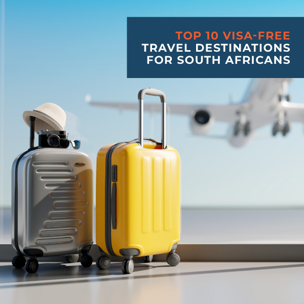 Top 10 visa-free travel destination for South Africans
