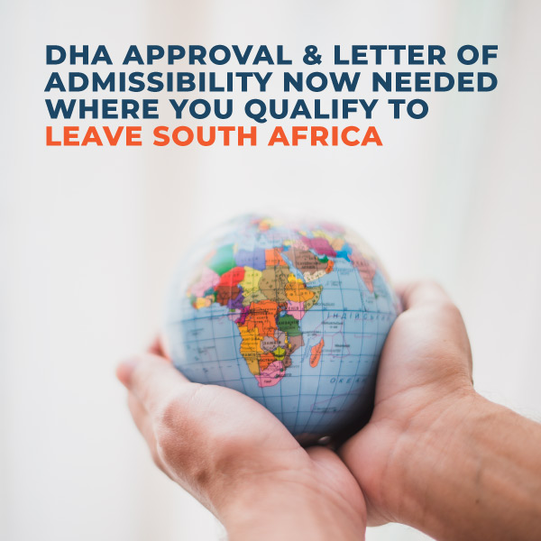 Do You Require A Letter Of Admissibility To Leave South Africa